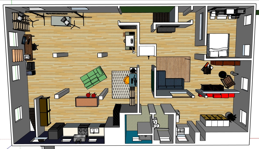 Floor Plan Arial Rendering